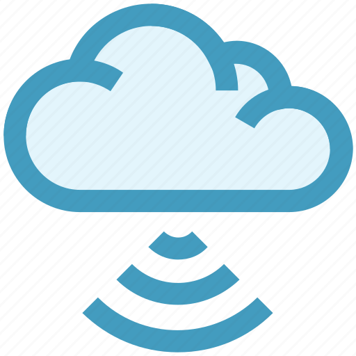 cloud computing, connection, internet, signals, technology, waves, wifi cloud icon