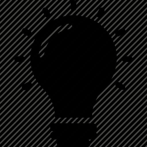 bulb, electric light, idea, light bulb, luminaire icon