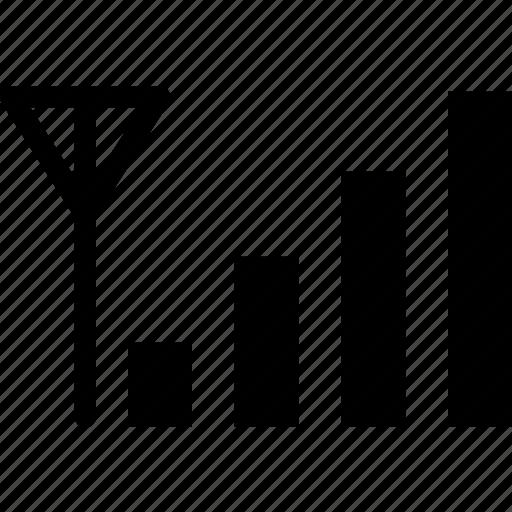 antenna bars, emoji, network, signal bars, signals icon icon