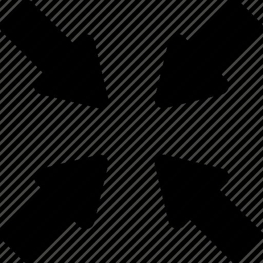arrows, condense arrow, enlarge, maximize, network icon