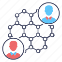 personal network, social network, user connection, user links, user network icon