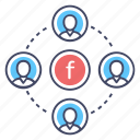 affiliate marketing, social communication, social marketing, social network, social platform icon