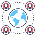 affiliate network, global connection, global network, globalization, worldwide network icon