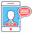 mobile chatting, mobile communication, mobile conversation, mobile messaging, mobile text icon