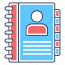 address book, contacts book, directory, phone book, phone directory icon