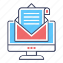 correspondence, electronic mail, email, message, online communication icon