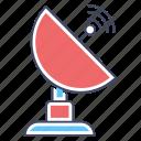 communication technology, parabolic dish, satellite antenna, satellite communication, satellite dish icon