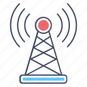 broadband network, communication tower, radio tower, signal tower, wireless network icon