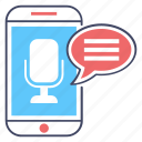 audio recorder, sound recorder, voice message, voice note, voice recorder icon