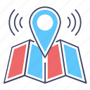 direction, geolocation, gps, location map, location marker, location pointer, navigation icon