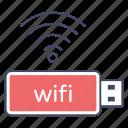 network adapter, usb adapter, usb internet, wifi usb, wireless device icon