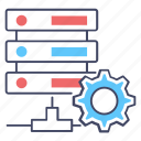 data management, server configuration, server hosting, server management, server setting icon