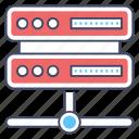 data server, data sharing, data transfer, server hosting, server network icon