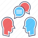 chatting, communication, conversation, discussion, message, speech icon