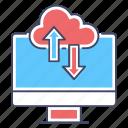 cloud computing, cloud data, cloud storage, data download, data transfer, data upload icon