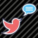 message, news, social communication, social media, tweet icon