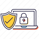 cybersecurity, network security, secure system, system protection, system security icon
