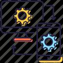 data exchange, data management, data sync, data synchronization, data transfer icon