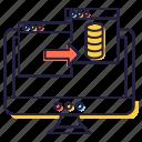 data exchange, data sharing, data sync, data transfer, data transmission icon