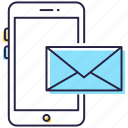 correspondence, email, mobile mail, mobile message, mobile sms icon