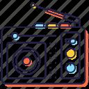 output device, radio, radio broadcast, radio set, radiocommunication, radionics icon
