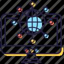 global network, globalization, international network, network flow, worldwide network icon