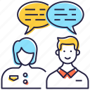 chatting, communication, consultation, conversation, discussion icon