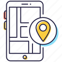 geolocation, gps, mobile direction, mobile location, navigation icon