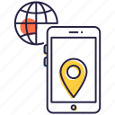 geolocation, gps tracking, location app, mobile app, mobile gps, navigation icon