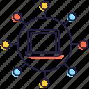 computer network, multiple network, network connection, system connection, system network icon