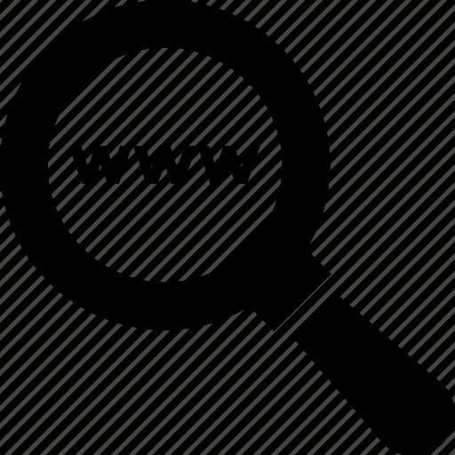 domain searching, keyword, magnifier, optimization, www icon