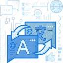 arrows, communication, language, talk, transfer, translation