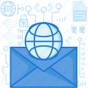 communication, email, envelope, mail, message, messaging, online icon