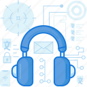 audio, customer, device, headphone, headset, service, sound icon