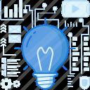 bulb, electricity, idea, innovation, lightbulb, media, thought