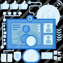 chat, communication, media, monitor, screen, social, video