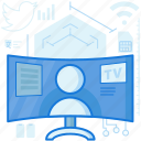 broadcast, monitor, network, news, screen, television, tv