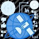 communication, global, globe, international, network, satellite, technology