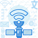 communication, device, network, satellite, technology, wifi, wireless icon