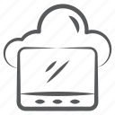 cloud hosting, cloud network, cloud services, cloud storage, cloud technology icon