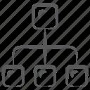 algorithm, flowchart, hierarchy, sitemap, flow diagram icon