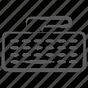 computer hardware, computer keyboard, input device, keyboard, typing gadget icon
