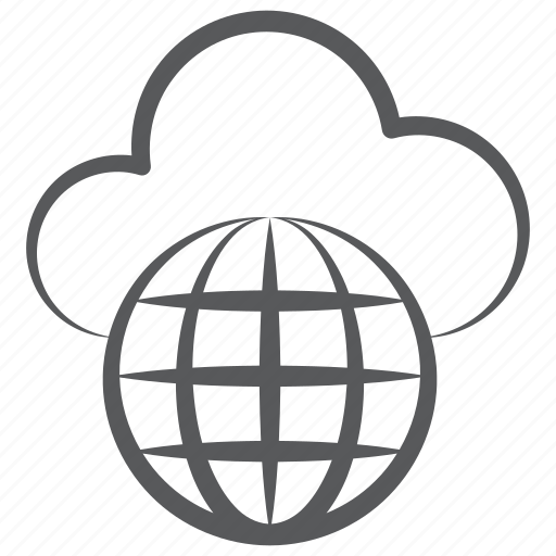 Cloud computing, cloud technology, global network, universal network, worldwide cloud network icon - Download on Iconfinder