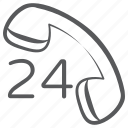 call center, hotline, 24hr helpline, customer support, 24hr service, helpline icon