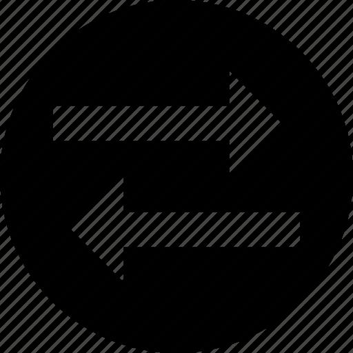 arrows, data share, directional, left arrow, right arrow icon