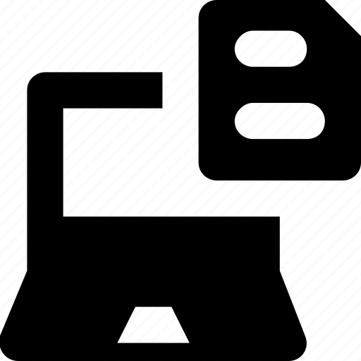 document, edocs, file, laptop, online documents icon