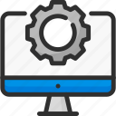 computer, connection, monitor, network, options, settings icon