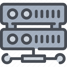 connect, data, database, network, server icon