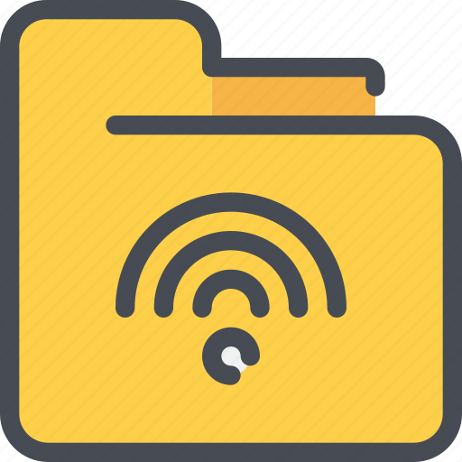 connect, database, document, file, folder, network, wifi icon