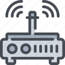 connect, device, internet, network, router icon